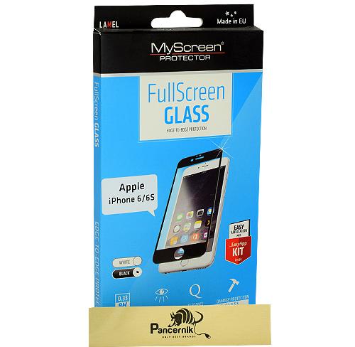Szkło Hartowane MyScreen FullScreen Glass iPhone 6/6S na cały ekran, czarne