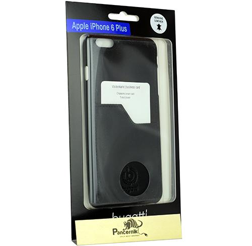 Etui Bugatti ClipOnCover Premium iPhone 6 Plus / 6S Plus, czarne (Black)