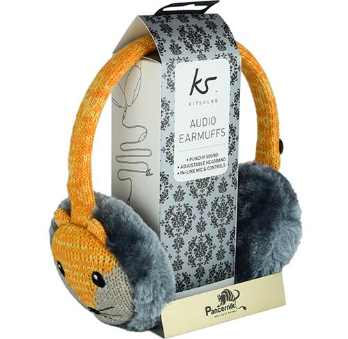 Słuchawki Przewodowe KitSound Audio Earmuffs Nauszniki FOX, (LIS)