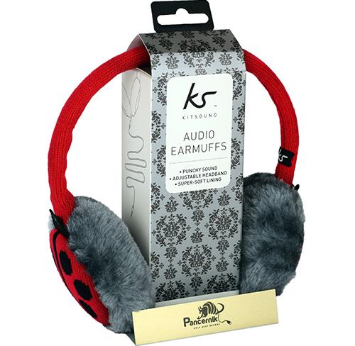 Słuchawki Przewodowe KitSound Audio Earmuffs Nauszniki LADYBIRD, (BIEDRONKA)