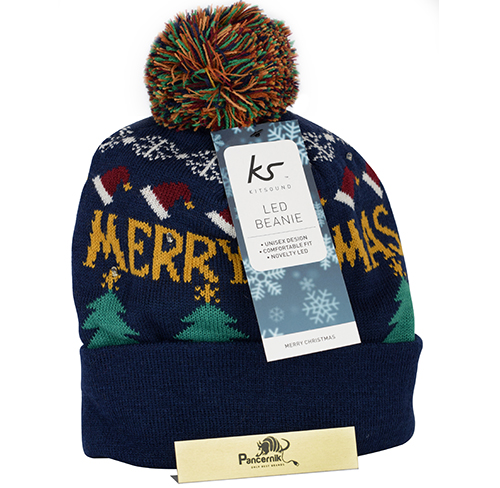Czapka zimowa KitSound Merry Christmas, granatowa